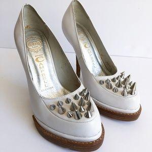 Jeffrey Campbell Ibiza White Studded Platform Heel